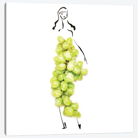 Green Grapes Canvas Print #GRR46} by Gretchen Roehrs Canvas Art