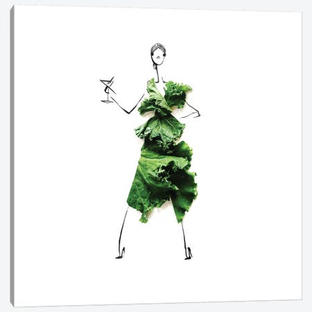 Kale IV Canvas Print #GRR49} by Gretchen Roehrs Art Print