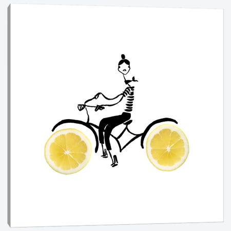Lemon Cycle Canvas Print #GRR51} by Gretchen Roehrs Canvas Art