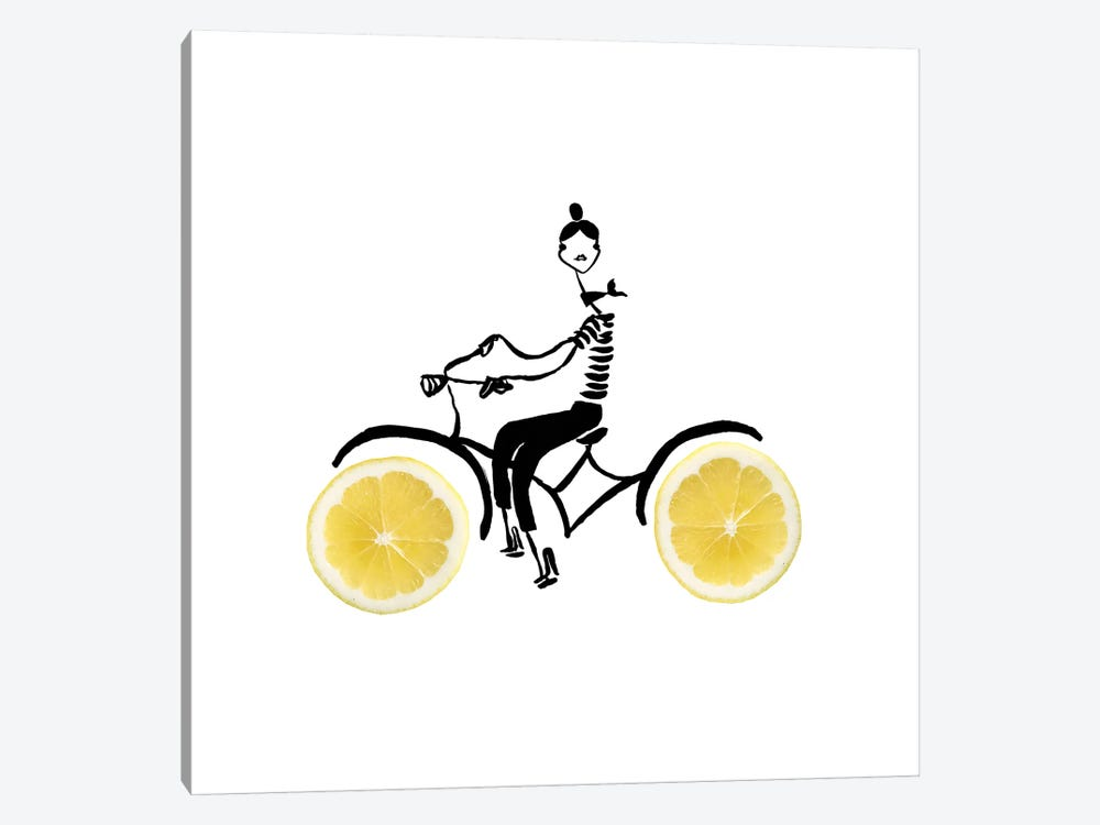 Lemon Cycle by Gretchen Roehrs 1-piece Canvas Print