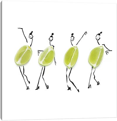 Limes Canvas Art Print