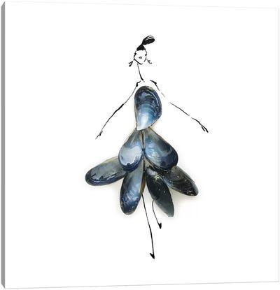 Blue mussels Canvas Art Print