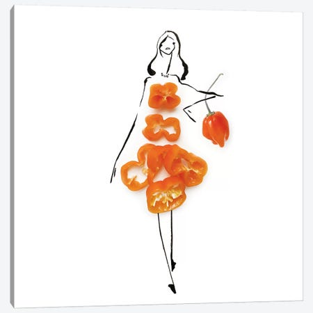Orange Habenaro Canvas Print #GRR75} by Gretchen Roehrs Canvas Print