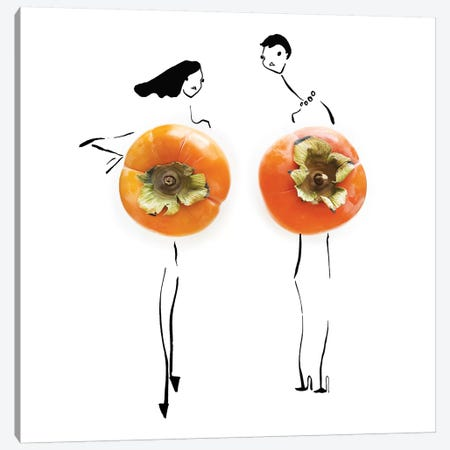 Persimmon Canvas Print #GRR82} by Gretchen Roehrs Canvas Art Print