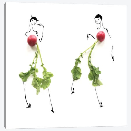 Radish I Canvas Print #GRR87} by Gretchen Roehrs Canvas Artwork
