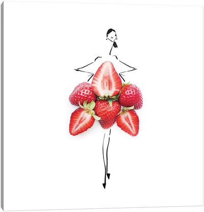 Stawberry Canvas Art Print