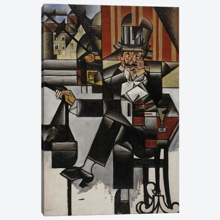 Un Homme au Café, 1912 Canvas Print #GRS1} by Juan Gris Canvas Wall Art