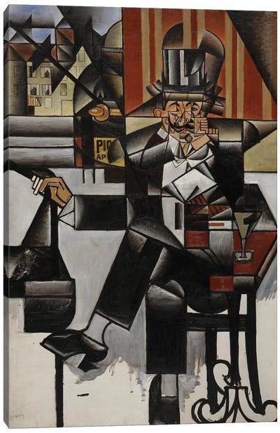 Un Homme au Café, 1912 Canvas Art Print
