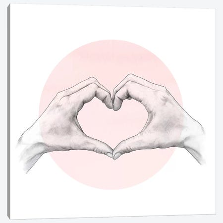 Heart In Hands Canvas Print #GRV17} by Laura Graves Canvas Print