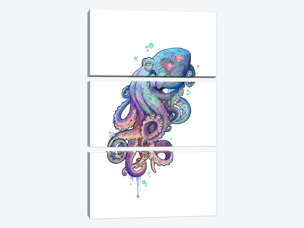 Octopus by Laura Graves 3-piece Art Print