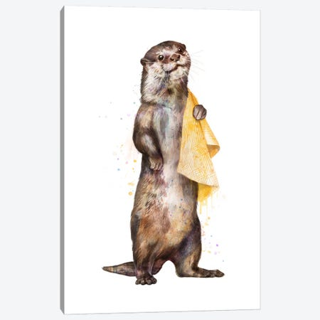 Otter Canvas Print #GRV24} by Laura Graves Canvas Wall Art