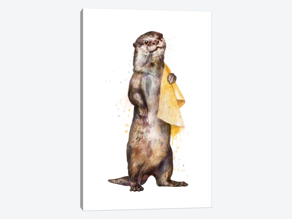 Otter by Laura Graves 1-piece Canvas Wall Art