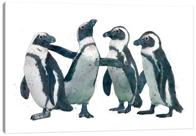Penguin Party Canvas Art Print