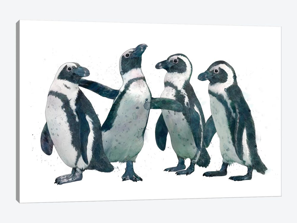 Penguin Party by Laura Graves 1-piece Canvas Print