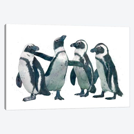 Penguin Party Canvas Print #GRV25} by Laura Graves Canvas Art