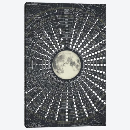 Phases Of The Moon 2017 Canvas Print #GRV26} by Laura Graves Canvas Wall Art