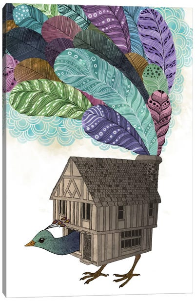Birdhouse Revisited Canvas Art Print
