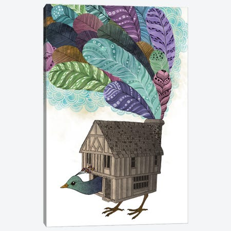 Birdhouse Revisited Canvas Print #GRV2} by Laura Graves Canvas Art Print