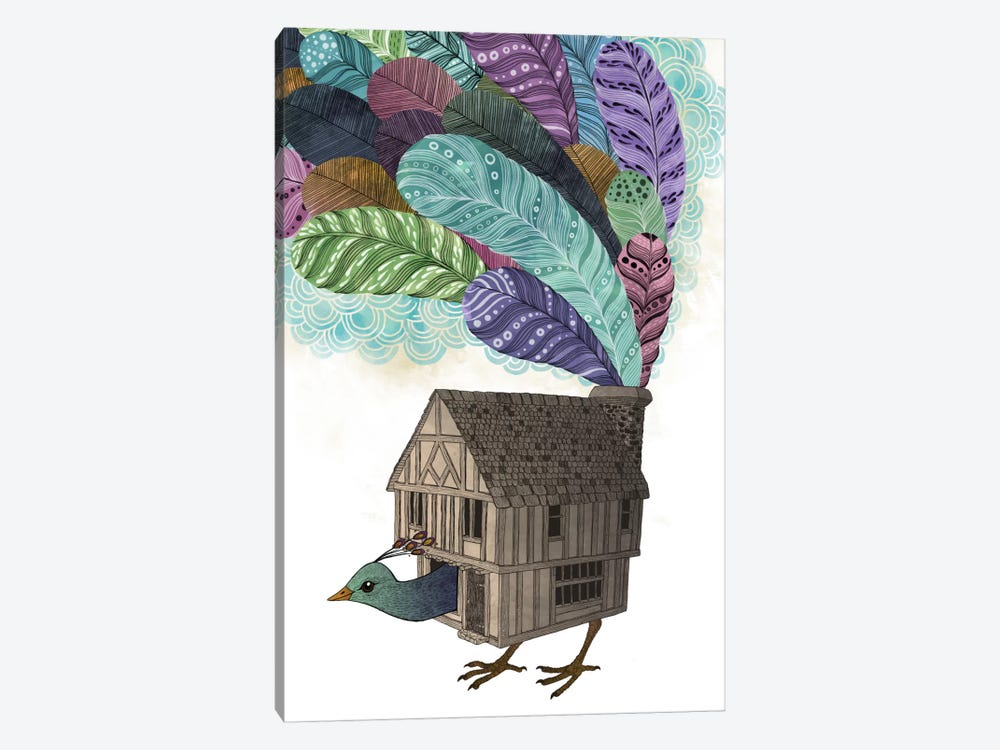 Birdhouse Revisited by Laura Graves 1-piece Canvas Art Print