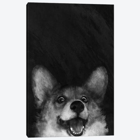 Sausage Fox Corgi Canvas Print #GRV30} by Laura Graves Canvas Artwork