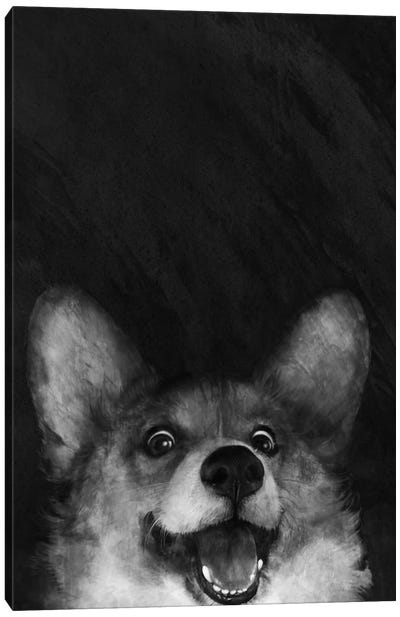 Sausage Fox Corgi Canvas Art Print