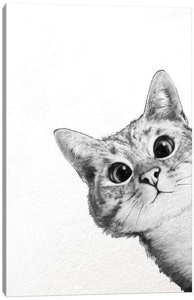 Sneaky Cat Canvas Art Print