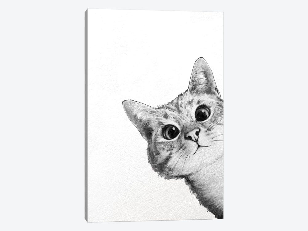 Sneaky Cat by Laura Graves 1-piece Canvas Art