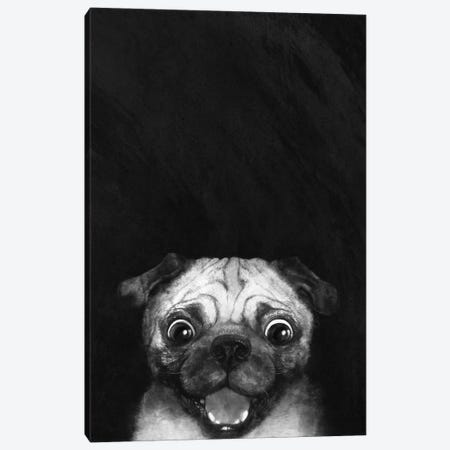 Snuggle Pug Canvas Print #GRV32} by Laura Graves Canvas Art