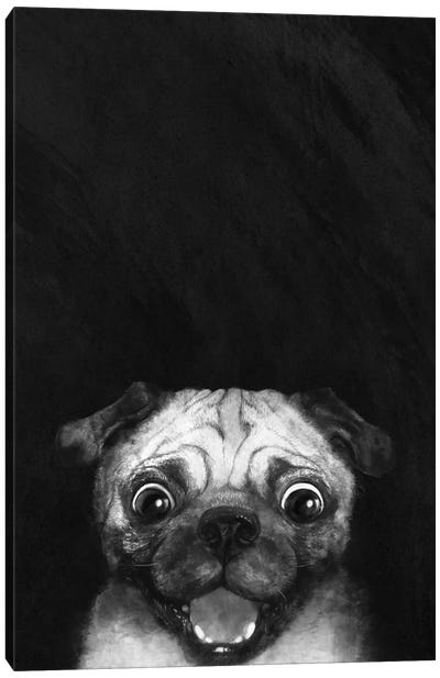 Snuggle Pug Canvas Art Print