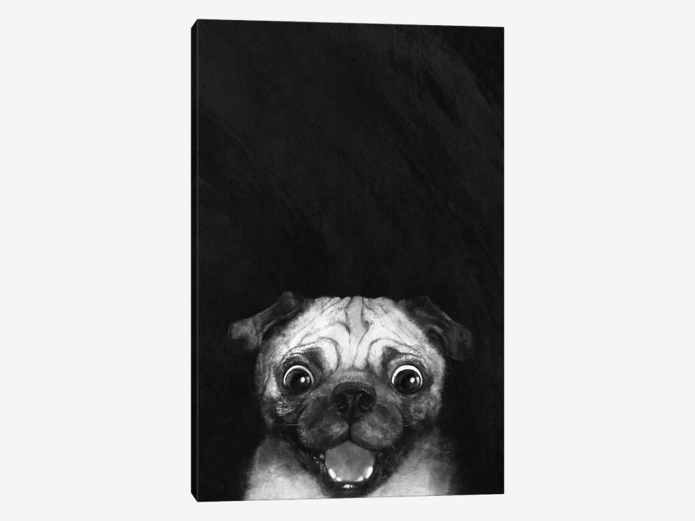 Snuggle Pug by Laura Graves 1-piece Canvas Print