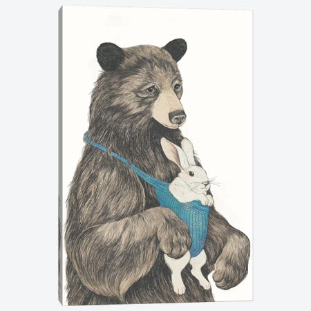 The Bear Au Pair Canvas Print #GRV36} by Laura Graves Art Print