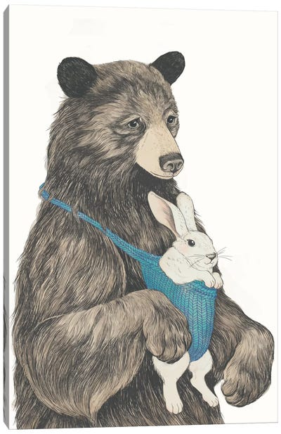 The Bear Au Pair Canvas Art Print