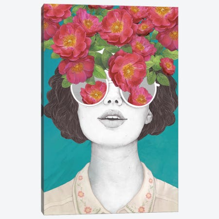 The Optimist Rose Tinted Glasses Canvas Print #GRV37} by Laura Graves Art Print