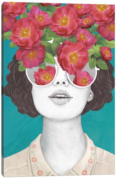 The Optimist Rose Tinted Glasses Canvas Art Print