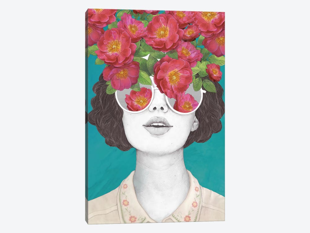 The Optimist Rose Tinted Glasses by Laura Graves 1-piece Canvas Artwork