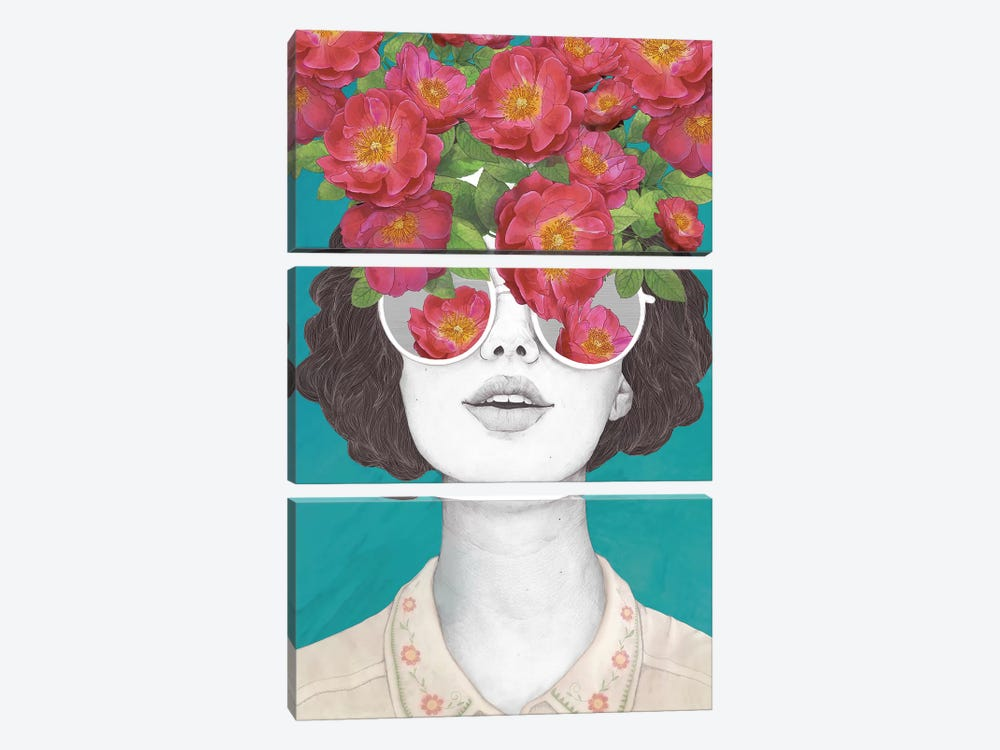 The Optimist Rose Tinted Glasses by Laura Graves 3-piece Canvas Wall Art