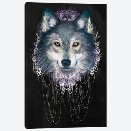 Wolf Canvas Print #GRV38} by Laura Graves Canvas Art