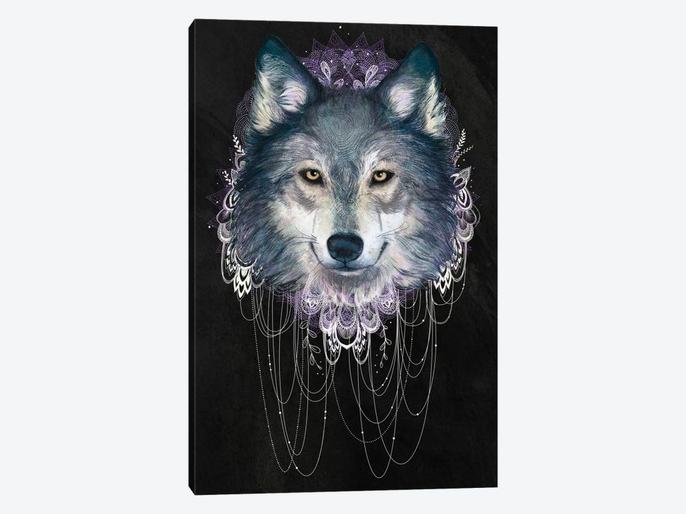 Wolf by Laura Graves 1-piece Canvas Art Print