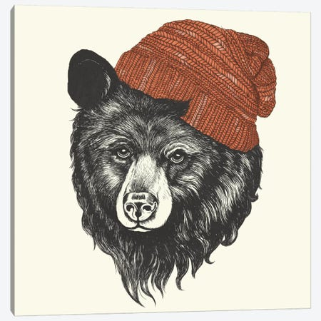 Zissou The Bear Canvas Print #GRV39} by Laura Graves Canvas Art