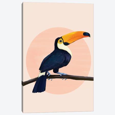 Tropical Toucan Canvas Print #GRV46} by Laura Graves Canvas Wall Art
