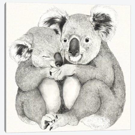 Koalas 3-Piece Canvas #GRV49} by Laura Graves Canvas Print