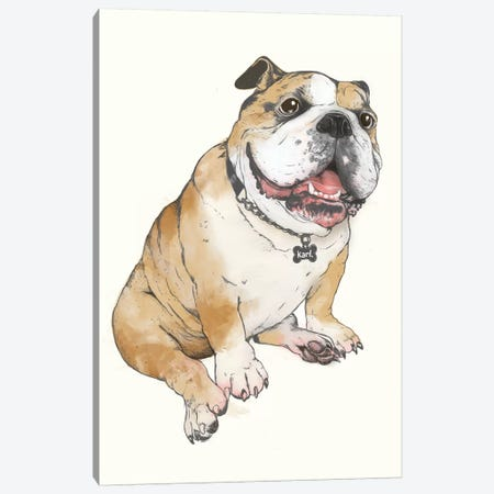 Bulldog Canvas Print #GRV4} by Laura Graves Canvas Artwork