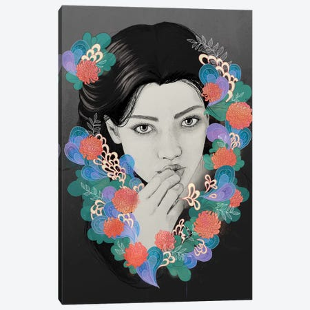 New Girl Canvas Print #GRV51} by Laura Graves Canvas Artwork