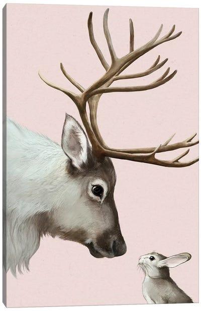 Reindeer & Rabbit Canvas Art Print