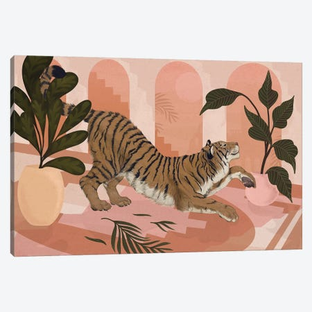 Easy Tiger Canvas Print #GRV59} by Laura Graves Canvas Wall Art