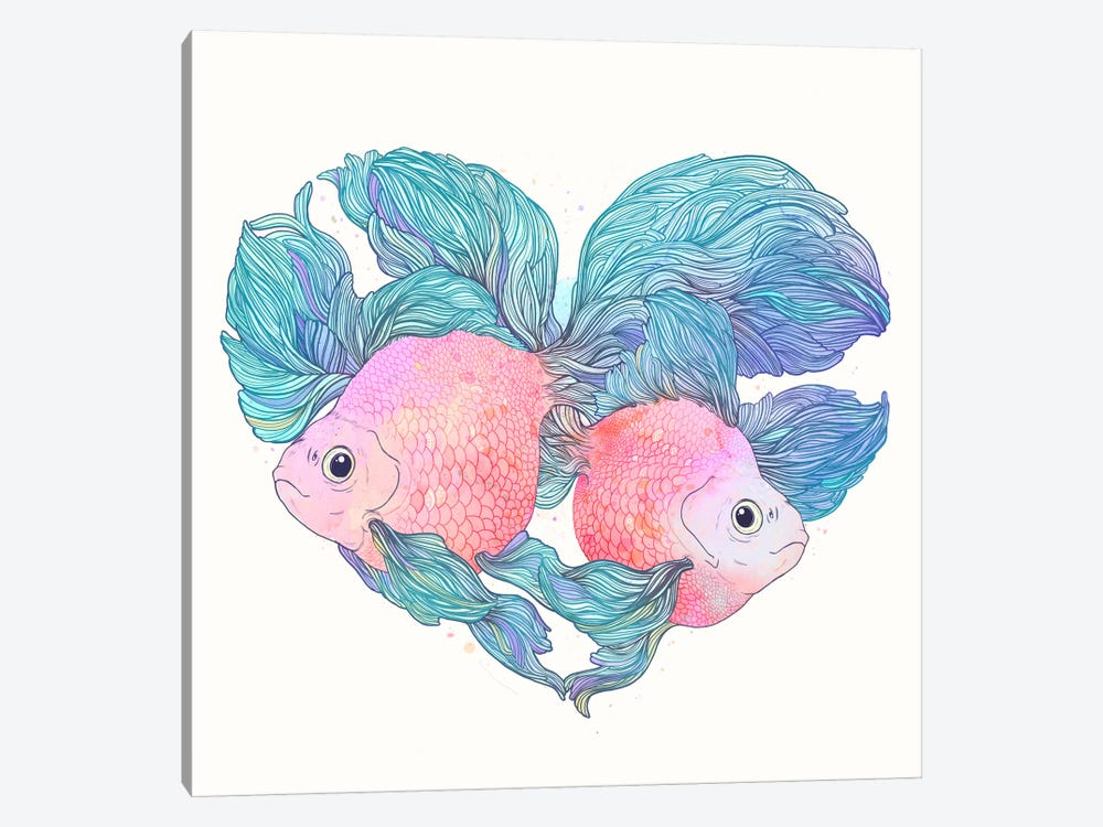 Carassius by Laura Graves 1-piece Canvas Art Print