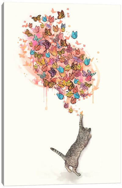 Catching Butterflies Canvas Art Print