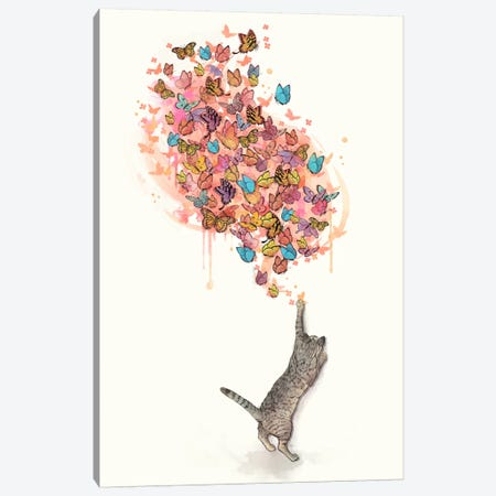 Catching Butterflies Canvas Print #GRV7} by Laura Graves Canvas Artwork