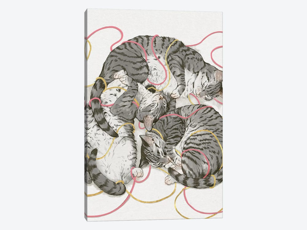 Cats In Rose Gold by Laura Graves 1-piece Art Print