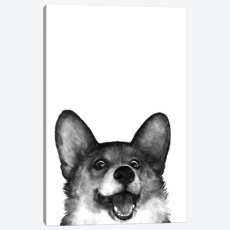 Corgi 3-Piece Canvas #GRV9} by Laura Graves Art Print